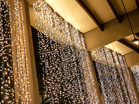 curtain decoration lights