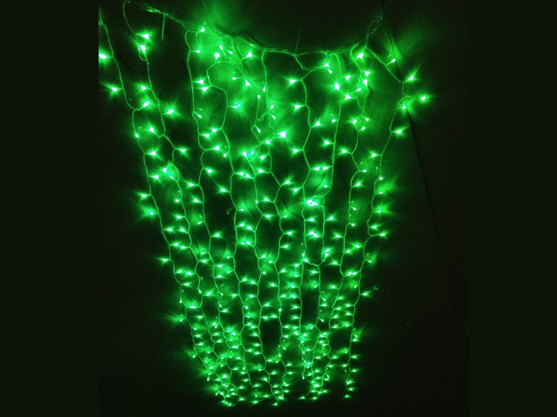 led curtain lights green