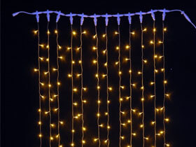 warm white led curtain light
