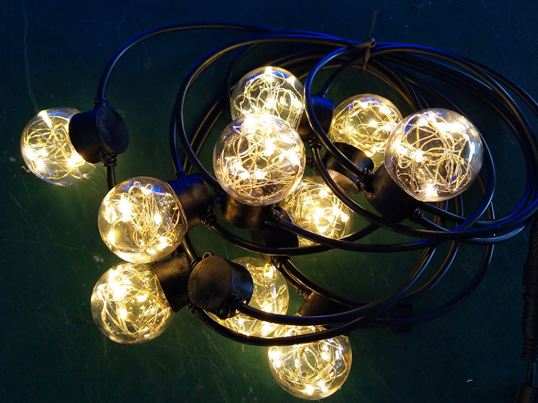 cooper wire Christmas lights