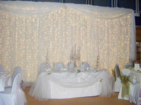 warm white LED curtain