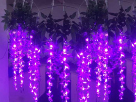 led purple curtain lights