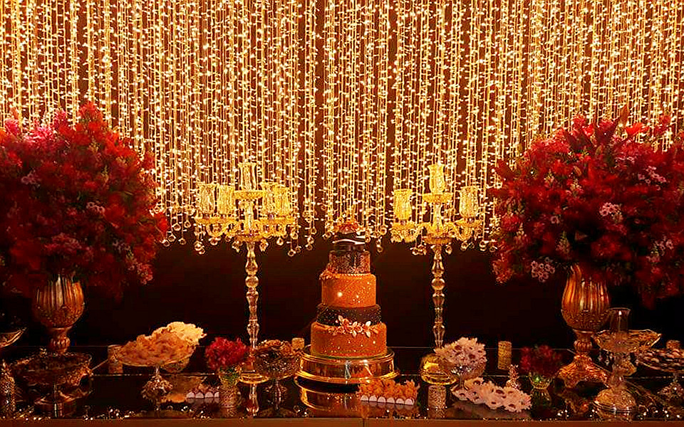 led curtain lights in brazil wedding