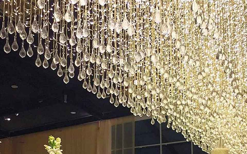 crystal led curtain