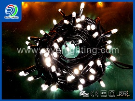 blue led string light white wire