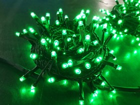 green light outdoor string lights
