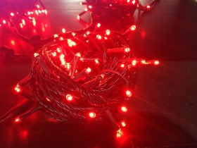red color outdoor string lights